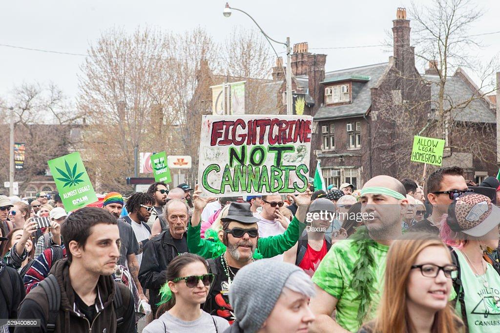Toronto marihuana marzo de 2016 : Foto de stock
