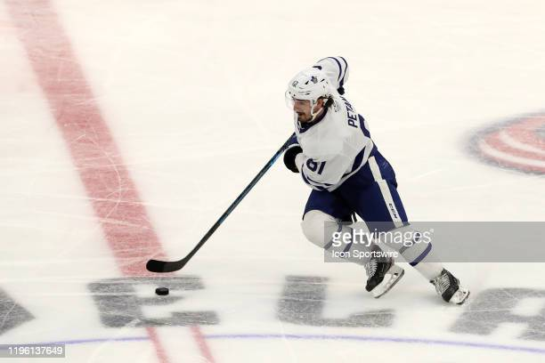 Toronto Marlies left wing Nic Petan controls the puck during the third period of the American Hockey League game between the Toronto Marlies and...