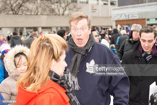 SQUARE TORONTO ONTARIO CANADA Toronto Mayor John Tory a in Nathan Phillips Square where he held a skating party and talked to the city inhabitants...