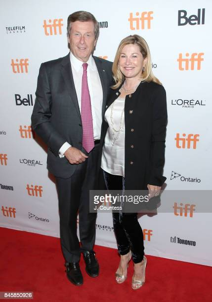 Toronto Mayor John Tory and Barbara Hackett attend the premiere of The Shape Of Water during the 2017 Toronto International Film Festival at The...