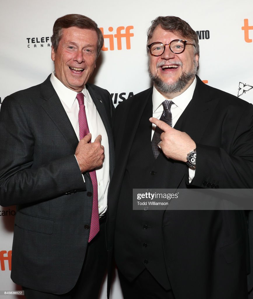 Toronto Mayor John Tory and Director Guillermo del Toro attend Fox Searchlight's 'The Shape Of Water' TIFF Screening at Elgin and Winter Garden Theatre Centre on September 11, 2017 in Toronto, Canada.