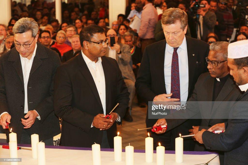 CAN: Vigil Following The Easter Bombings In Sri Lanka