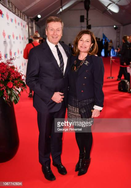 Toronto Mayor John Tory and his wife Barbara Hackett attend 2018 Canada's Walk Of Fame Awards held at Sony Centre for the Performing Arts on December...
