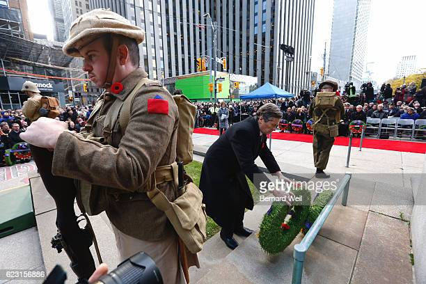 Toronto mayor John Tory lays a wreath at Remembrance Day ceremonies at Old City Hall in Toronto on Friday Live Coverage Bernard Weil/Toron/Toronto...