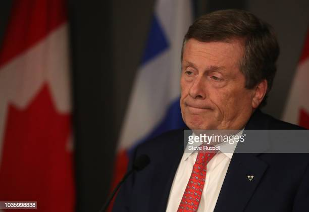 TORONTO ON SEPTEMBER 19 Toronto Mayor John Tory speaks about the Stay and the effects it will have on the election The Ontario Court of Appeal...