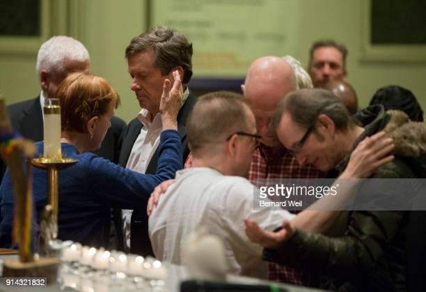 TORONTO ON FEBRUARY 4 Toronto Mayor John Tory took part in an anointing ceremony at The Metropolitan Community Church which held a candle light...