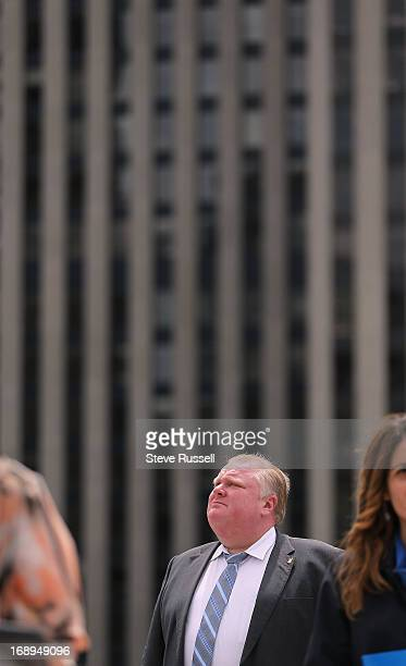 Toronto Mayor Rob Ford at the PFLAG flag raising The Mayor faces allegations that their is a video which he reportedly appears to be smoking crack...