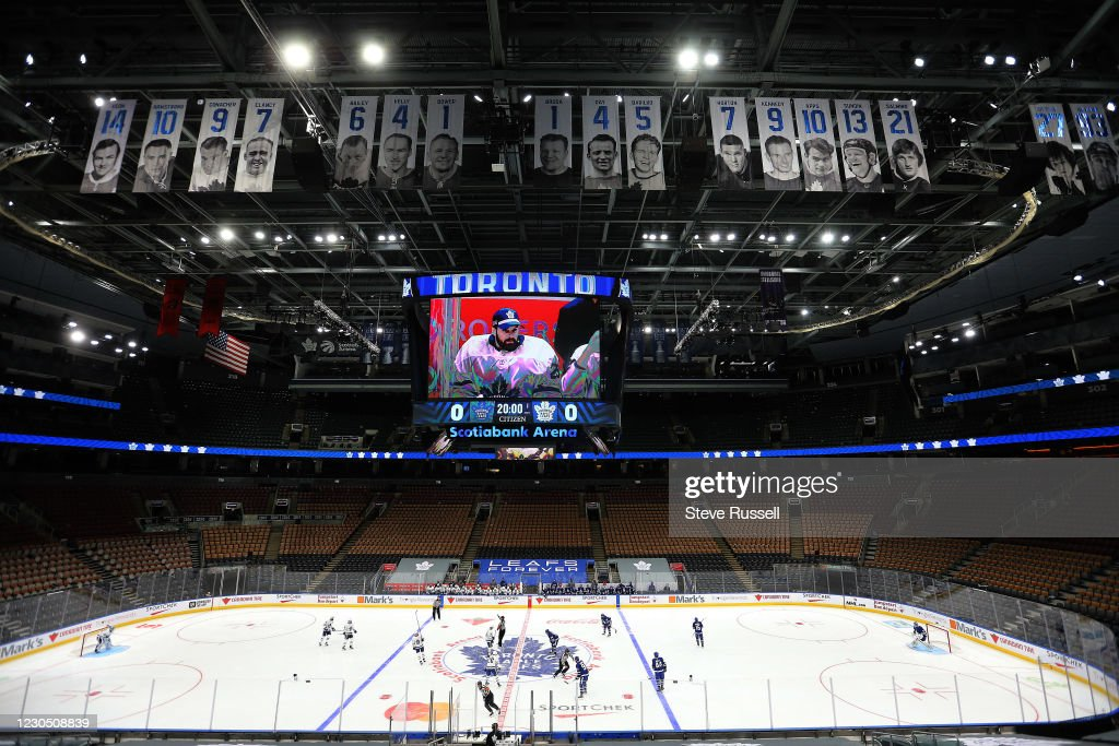the Toronto Maple Leafs hold their annual Blue versus White intersquad game : News Photo