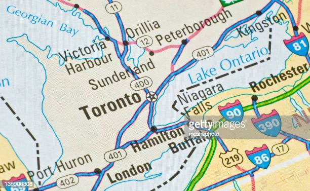 Toronto on the map