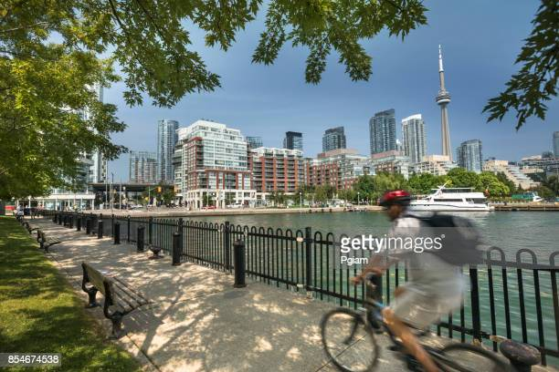 toronto ontario canada skyline view - toronto stock pictures, royalty-free photos & images