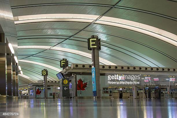 Toronto Pearson International Airport one of the busiest airports in North America Different areas of the Toronto Pearson International Airport