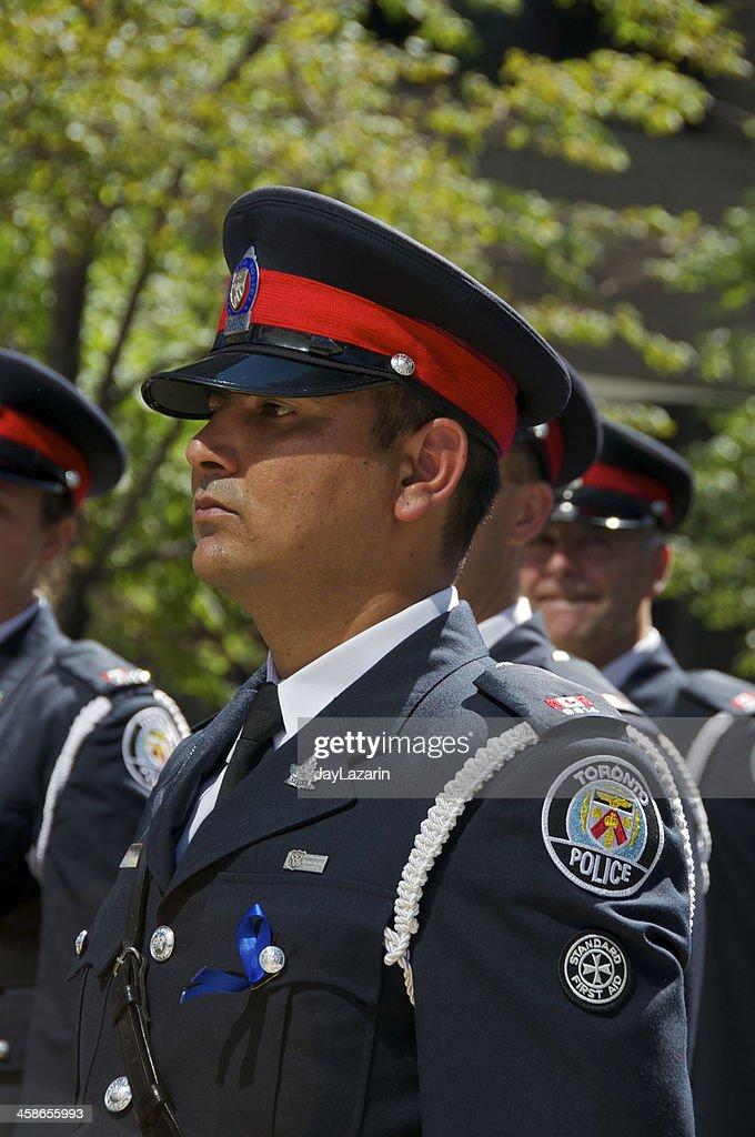 Toronto Policemen at NYPD Memorial ceremony, September 09, 2011, NYC : Stock Photo