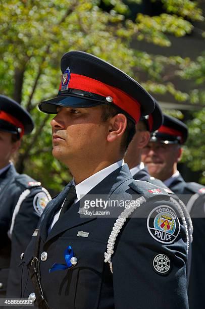 toronto polícias em nypd memorial cerimónia, 9 de setembro de 2011, nova iorque - uniform cap imagens e fotografias de stock