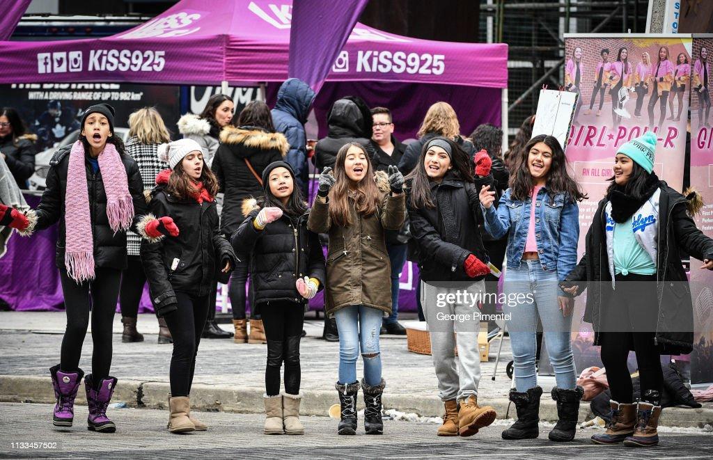 Toronto Pop Supergroup Girl Pow-R Launch GirlPowRment Wall : News Photo