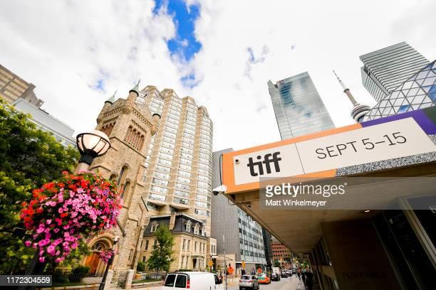 Toronto prepares for the 2019 Toronto International Film Festival on September 04 2019 in Toronto Canada