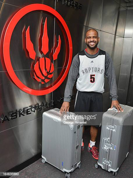 Toronto Raptor basketball player John Lucas III arrives at Slam Dunk For Rimowa And The Raptors at Air Canada Centre on March 14, 2013 in Toronto,...