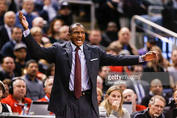 TORONTO ON DECEMBER 8 Toronto Raptors coach Dwane Casey yells to his players in the 2nd half as Toronto hosts Minnesota Timberwolves at Air Canada...