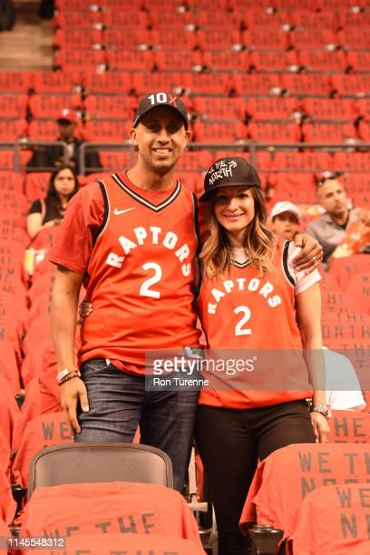 Toronto Raptors fans are seen before the game between the Toronto Raptors and Milwaukee Bucks in Game Four of the Eastern Conference Finals on May 21...