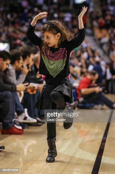 Toronto Raptors future dance pack member does all the moves from the endge of the court as the San Antonio Spurs defeated theToronto Raptors 116-103...