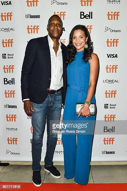 "Toronto Raptors General Manager Masai Ujiri and his wife, Ramatu Ujiri attend the ""93 Days"" premiere during 2016 Toronto International Film Festival..."