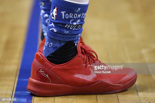 Toronto Raptors guard DeMar DeRozan scored 10 in the first half with red shoes on and came out for the second half with off-white shoes and scored 31...
