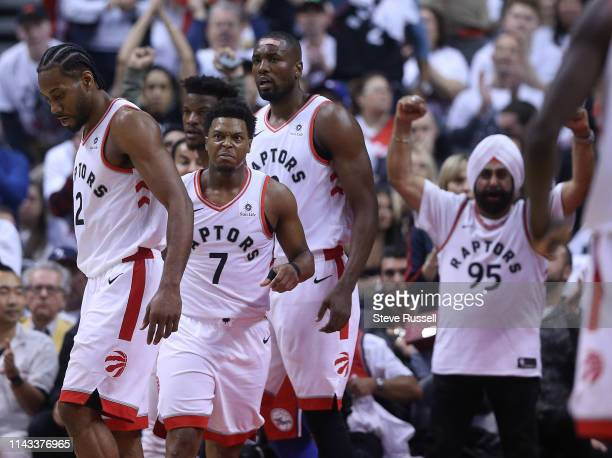 TORONTO ON MAY 12 Toronto Raptors guard Kyle Lowry has game face after hitting a basket as the Toronto Raptors beat the Philadelphia 76ers 9290 in...