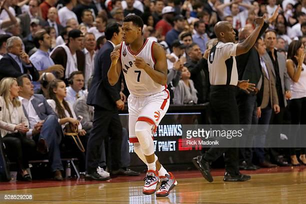 Toronto Raptors guard Kyle Lowry reacts after missing a buzzer beater which would have won the game Instead they went to overtime Toronto Raptors vs...