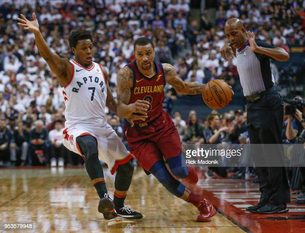 Toronto Raptors guard Kyle Lowry tries to keep up to Cleveland Cavaliers guard George Hill Toronto Raptors vs Cleveland Cavaliers in 2nd half action...