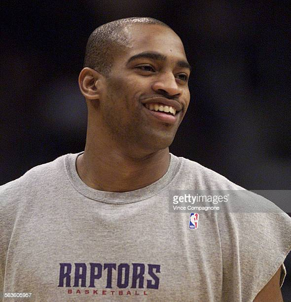 Toronto Raptors guard Vince Carter during warmups prior to game against Lakers at Staples Center on Mar.7, 2001.