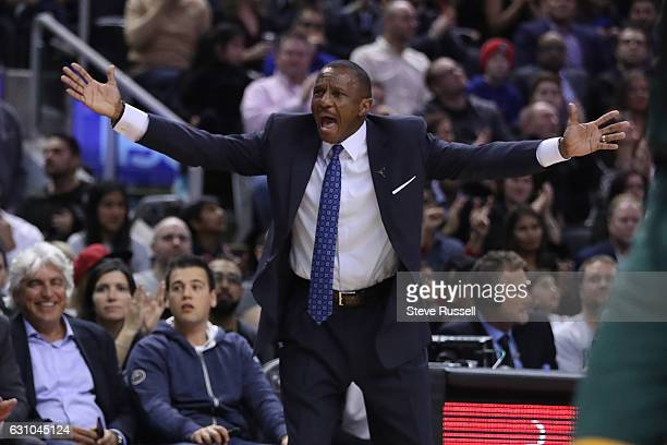 TORONTO ON JANUARY 5 Toronto Raptors head coach Dwane Caseycalls for a foul as the Toronto Raptors beat the Utah Jazz 10193 at Air Canada Centre in...
