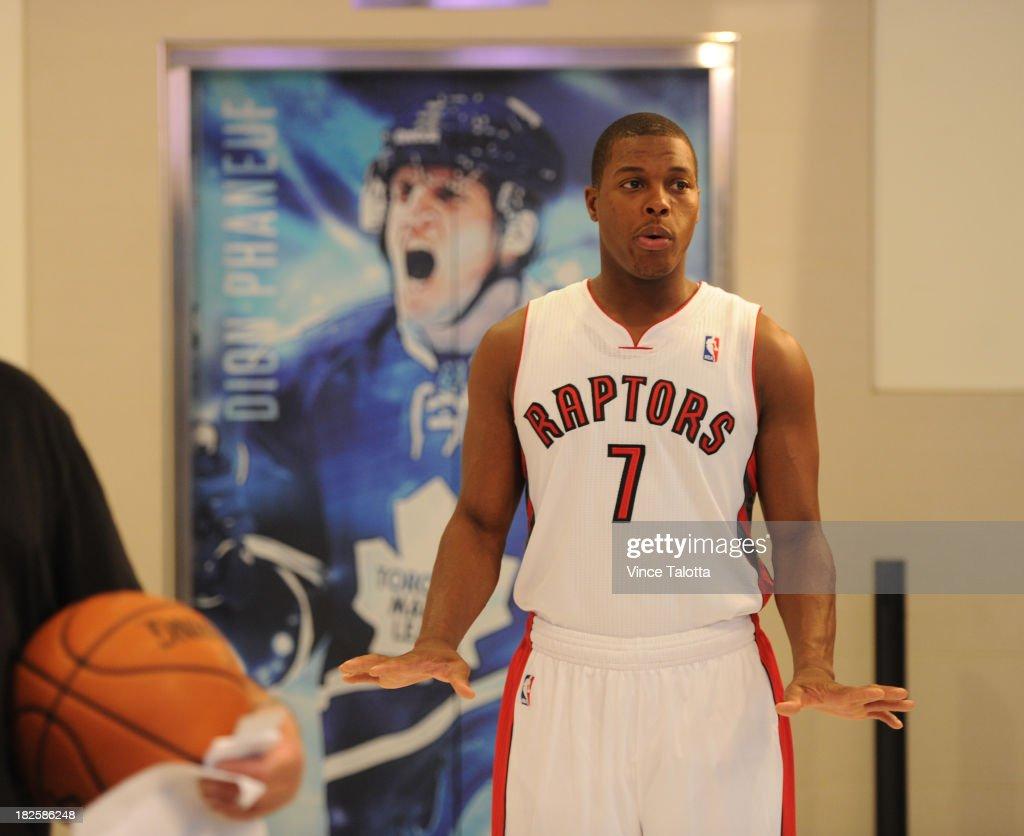 TORONTO, ON - SEPTEMBER 30 - Toronto Raptors Kyle Lowry at Raptors Media Day at the ACC in Toronto on September 30, 2013.