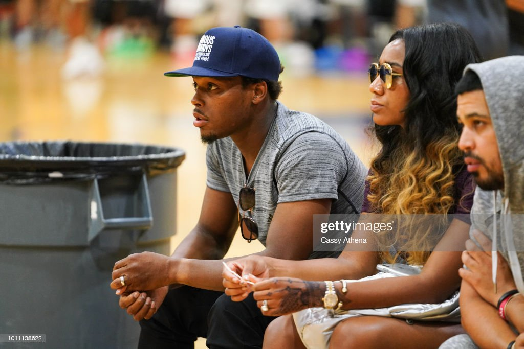 LeBron James and Dwyane Wade Watch Zaire Wade's AAU game : News Photo