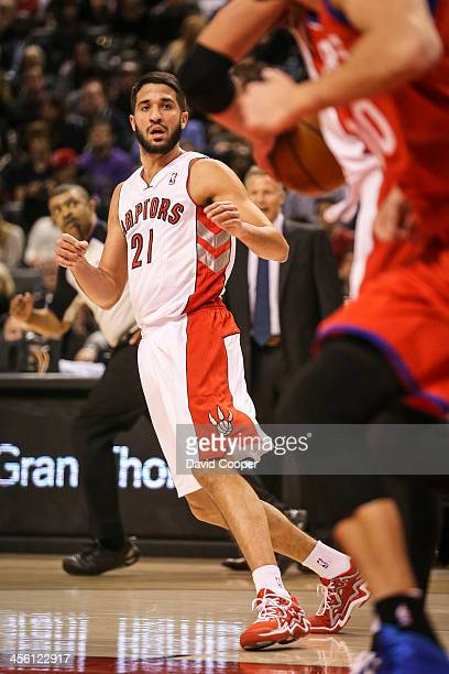 TORONTO ON DECEMBER 13 Toronto Raptors point guard Greivis Vasquez gets into his first game as a Raptor as the Philadelphia 76ers take on theToronto...