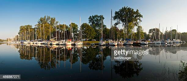 toronto royal canadian yacht club marina island panorama - island stock pictures, royalty-free photos & images