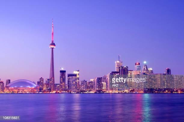 Vue de Toronto, au crépuscule