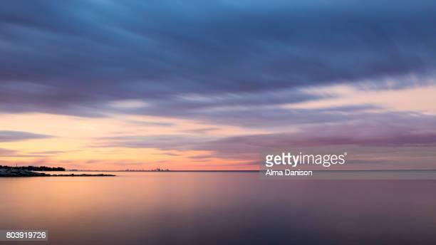 toronto skyline - lake ontario stock pictures, royalty-free photos & images