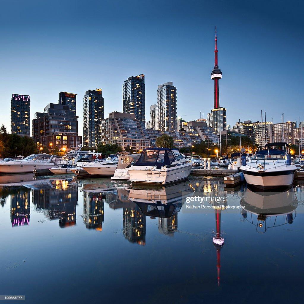 Toronto Skyline with the CN Tower : Stock Photo
