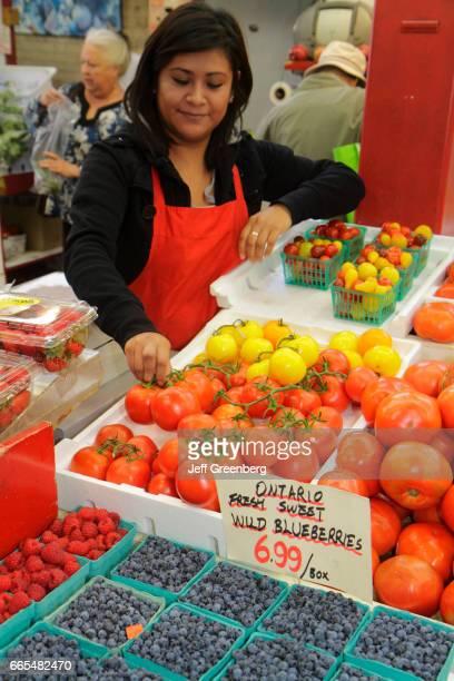 Toronto St Lawrence Market farmer's market vendor fresh produce fruit