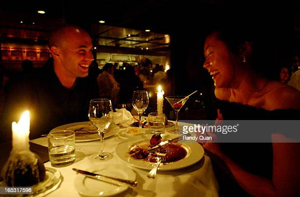 TORONTO ONTARIO Toronto Star Reporters Christian Cotroneo and Melissa Leong share a laugh at the restaurant Canoe Story about dating colleagues rq