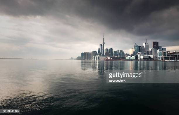 toronto storm skyline - toronto stock pictures, royalty-free photos & images