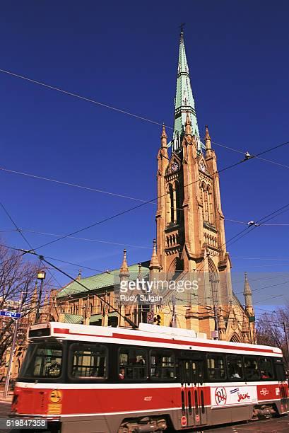 Toronto Streetcar and Church of St. James