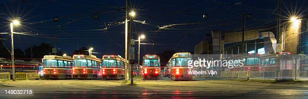 Toronto Transit Commission's Streetcar Yard on Queen Street East in Toronto