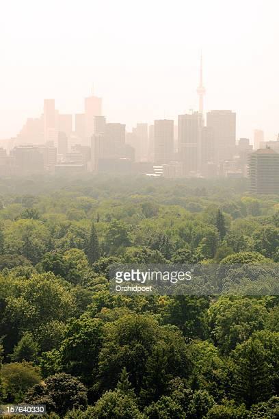 toronto under smog advisory - smog stock pictures, royalty-free photos & images