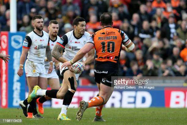 Toronto Wolfpack's Sonny Bill Williams in action during the Betfred Super League match at Emerald Headingley Stadium Leeds