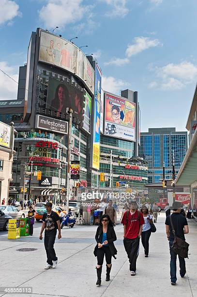 Toronto Yonge Dundas Square people billboards Canada