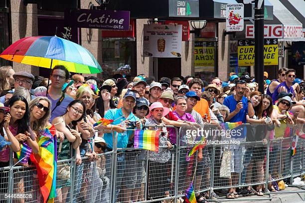 Torontonians gathered in great numbers to support the 36th Pride Parade and condemn the killings in Orlando Florida