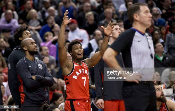 Toronto's Kyle Lowry reacts after fouling out late in the fourth quarter The Toronto Raptors hosted the Oklahoma City Thunder a the Air Canada Centre...