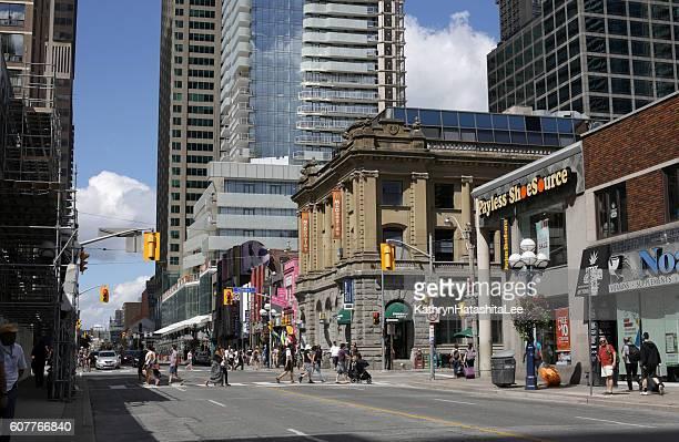Toronto's Yonge Street, Shopping in Church-Yonge Corridor in Summer