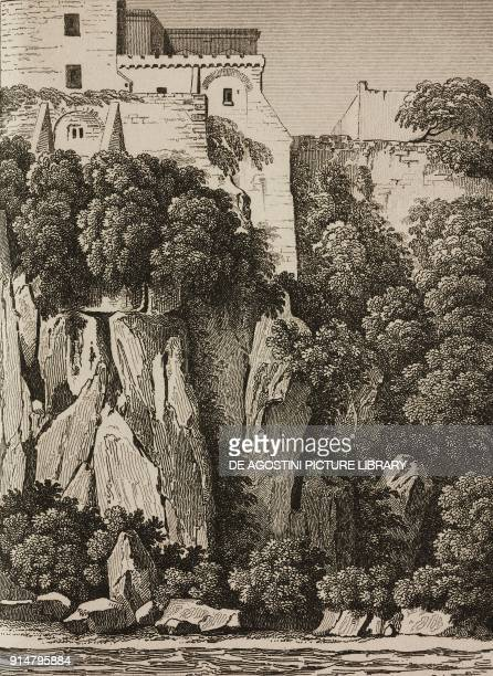 Torquato Tasso's house in Sorrento Campania Italy engraving from Italie by AlexisFrancois Artaud de Montor Sicilie by Gigault de La Salle L'Univers...
