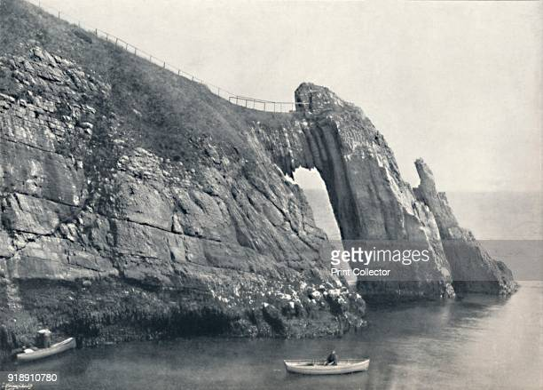 'Torquay - The Natural Arch ', 1895. From Round the Coast. [George Newnes Limited, London, 1895]Artist Unknown.